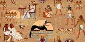 Starověký Egypt bezešvé vzor. Grunge Egypt pozadí