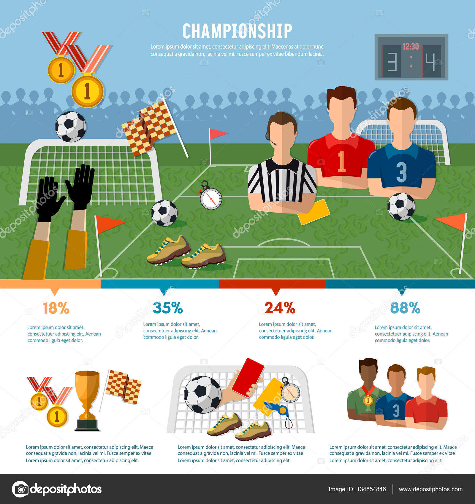 Soccer infographic football team signs soccer stock vector soccer infographic football team signs and symbols of professional soccer elements vector vector by matriyoshka biocorpaavc Choice Image