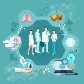 Medizin Infografik Krankenhaus Medizin Personal Gesundheitsdienst