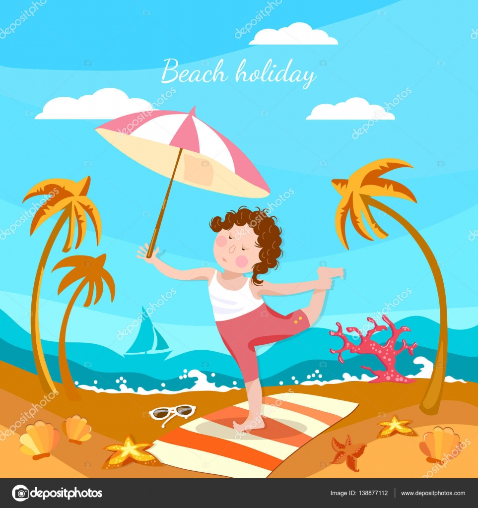 Beach Cartoon Images Stock Photos Vectors Shutterstock