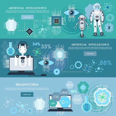 Artificial intelligence infographics creation of robots
