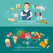 Obesità diabete uomo grasso e alimenti nocivi cause ed effetti