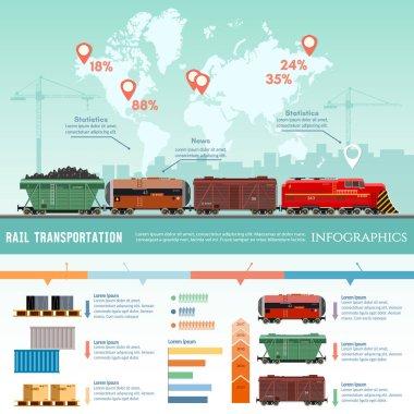 Cargo train, global transport logistics
