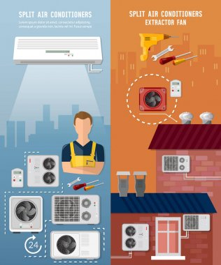 Air conditioner installment and air conditioning repair banner