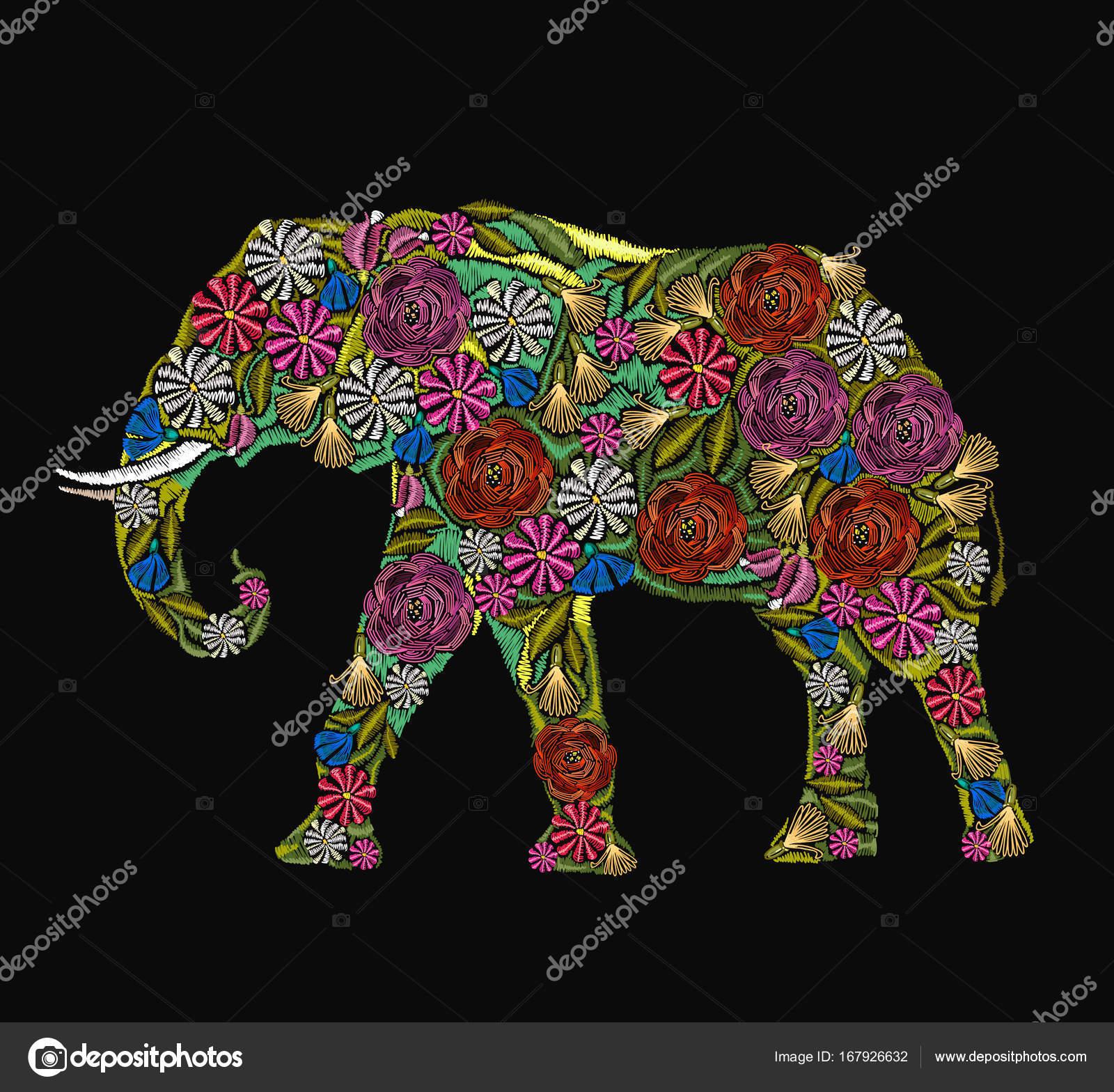 Elefantes Hindues Bordados Elefante Bordado Elefante Indio De