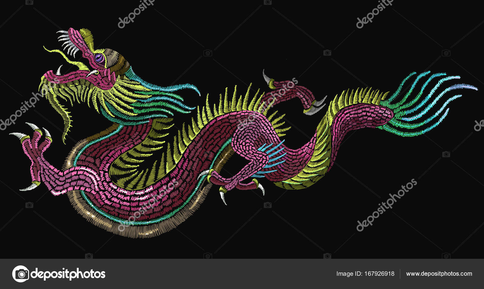 Fotos Dragones Chinos Dragones Chinos Bordados Dragones
