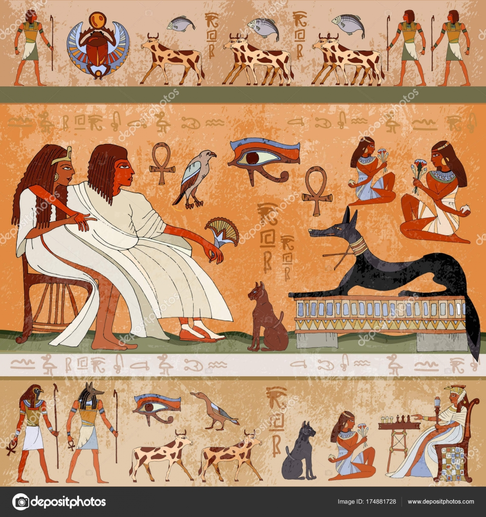 Ancient egypt scene egyptian gods and pharaohs stock vector ancient egypt scene egyptian gods and pharaohs stock vector publicscrutiny Image collections