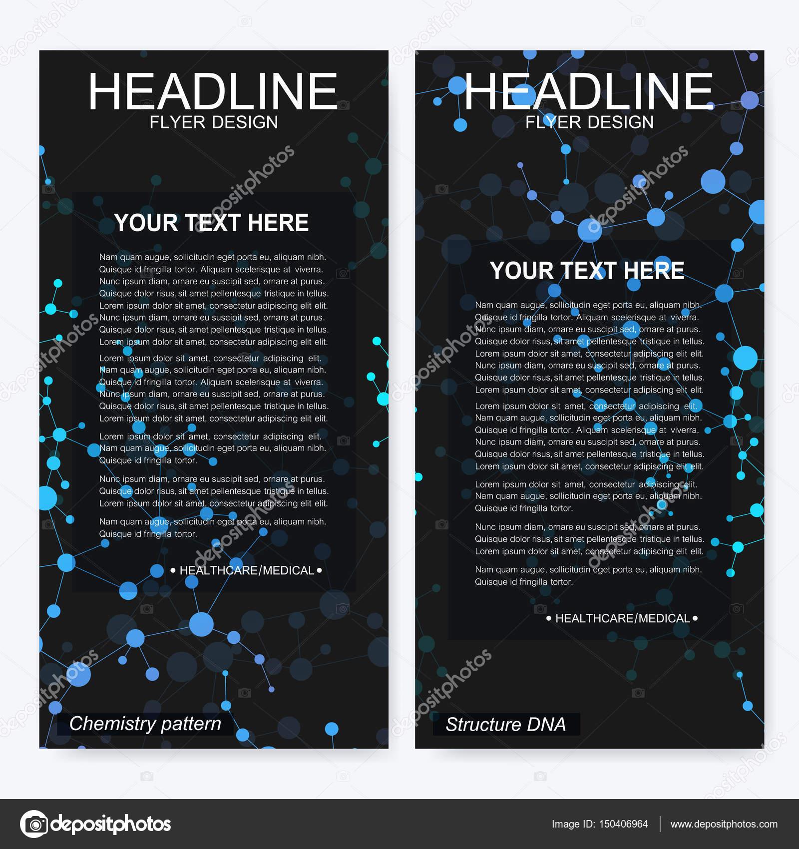 Diseño de folleto flyer. Plantilla de identidad corporativa de ...