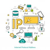 Fotografie IP-Adresse - Line Konzept