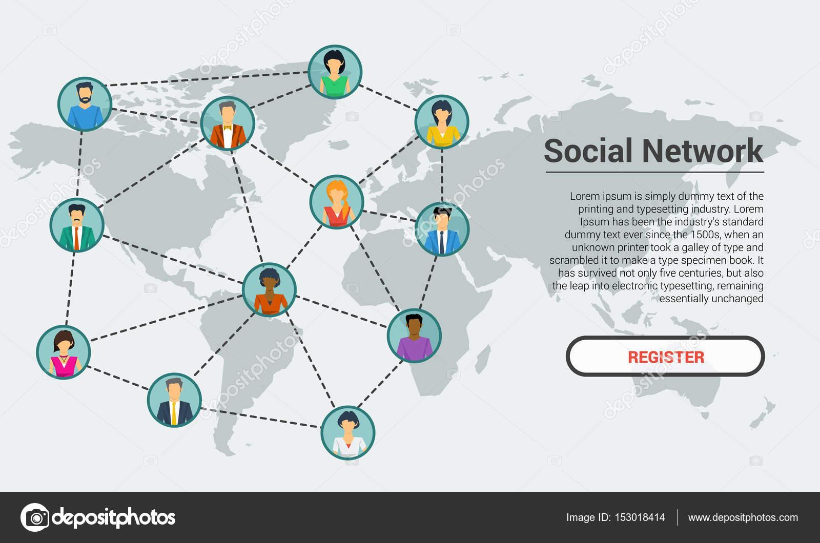 Soziales Netzwerk - Banner Vorlage — Stockvektor © SergeyVasutin ...