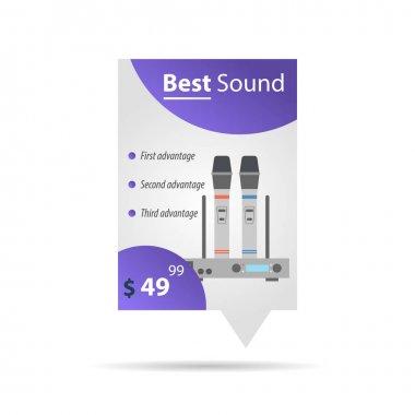 Label template - Wireless microphones