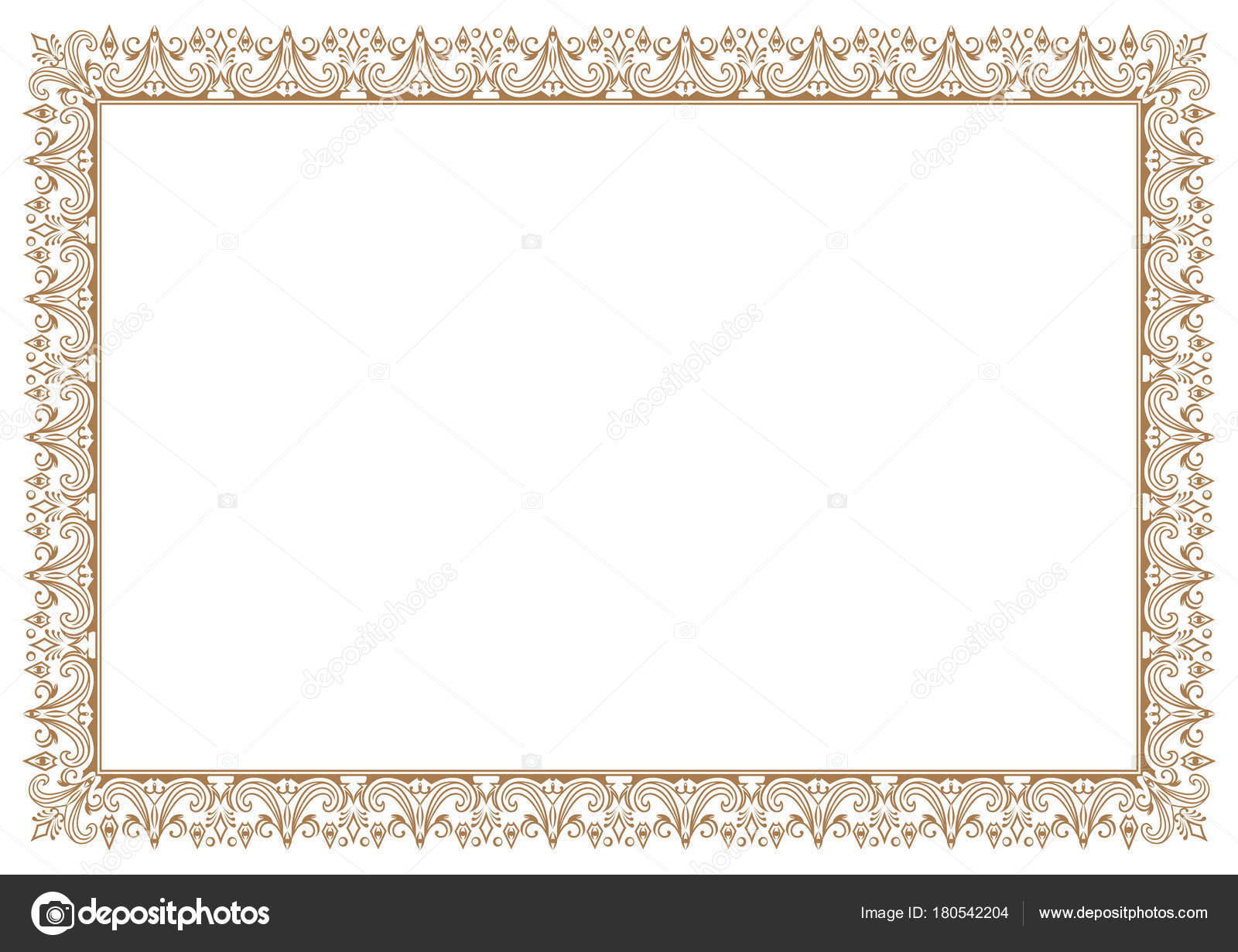 Frame Border Interesting Floral For Certificate U2014 Stock Vector With