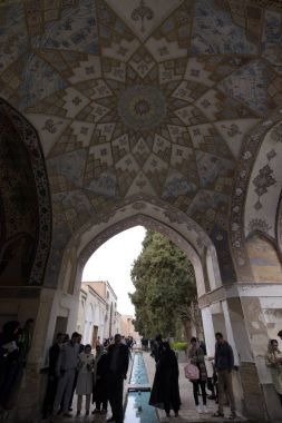 Fin, Kashan, Esfahan, Iran, March 23, 2017, is a historical Persian garden. It contains Kashan's Fin Bath, where Amir Kabir, the Qajarid chancellor, was murdered by an assassin sent by King Nasereddin Shah in 1852