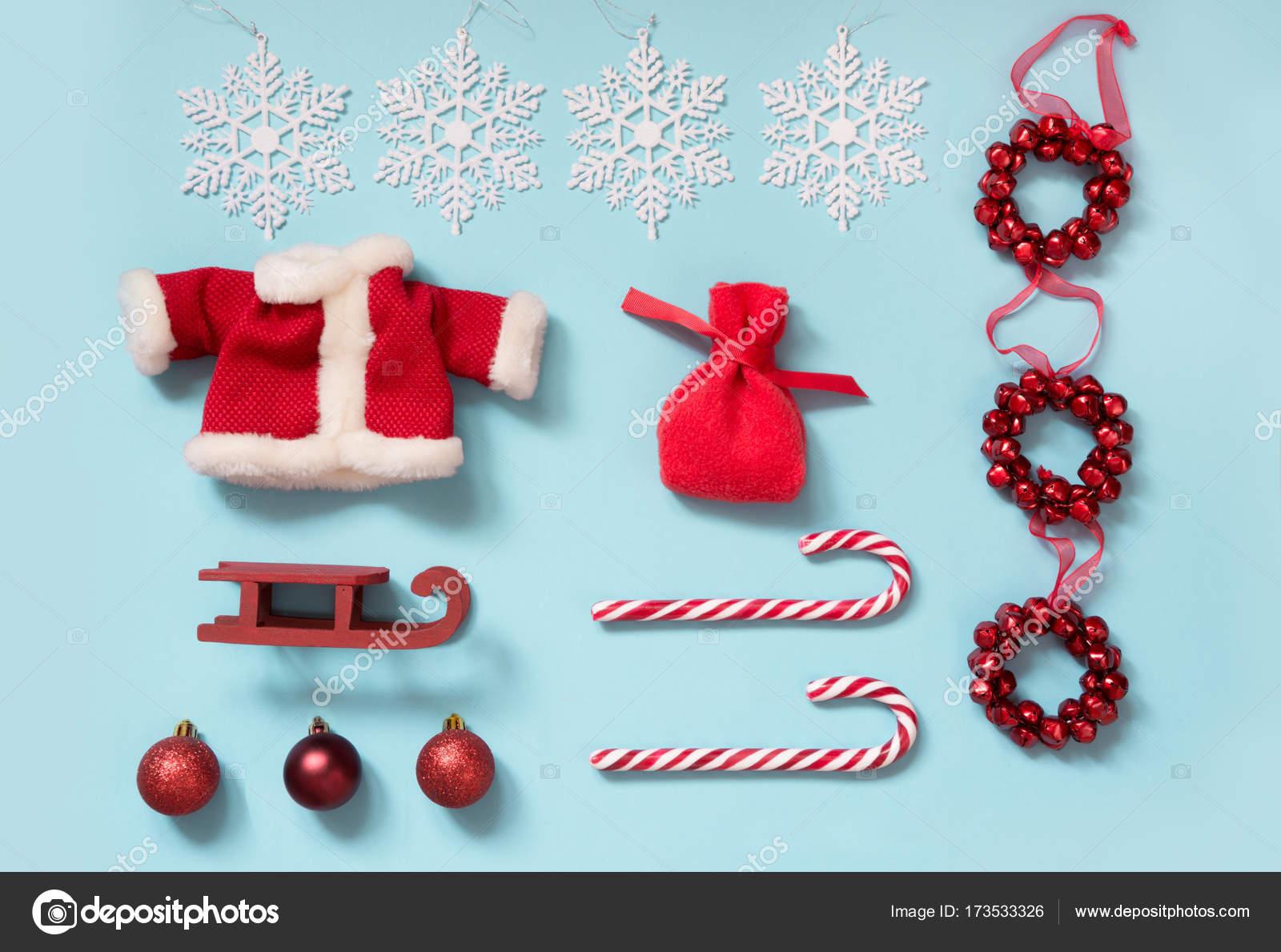 Colección de Navidad con Papá Noel chaqueta, bolso, bastones de ...