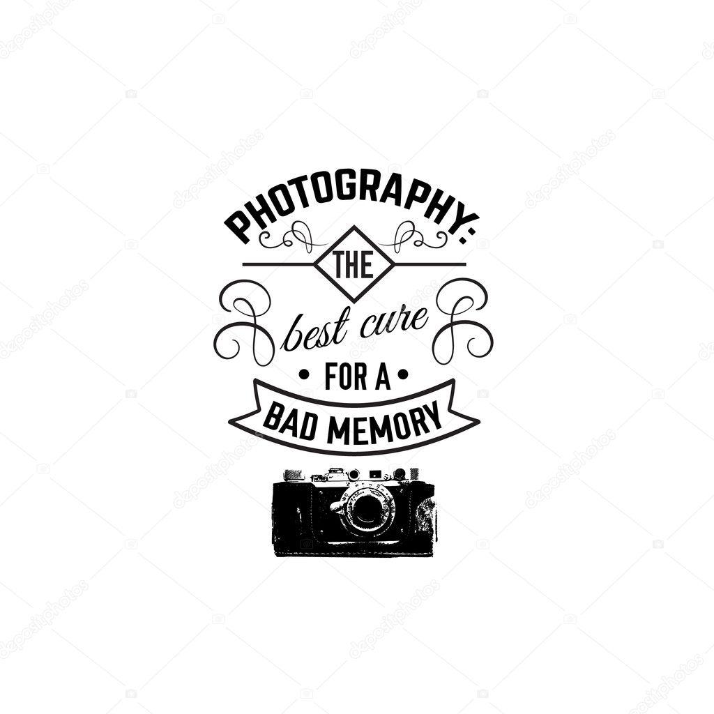 Zitat typografische Hintergrund über Fotografie — Stockvektor ...