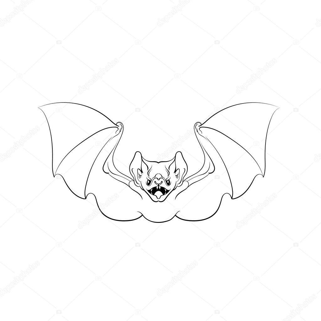 Vektor-Illustration der böse Fledermaus — Stockvektor © katytutynina ...