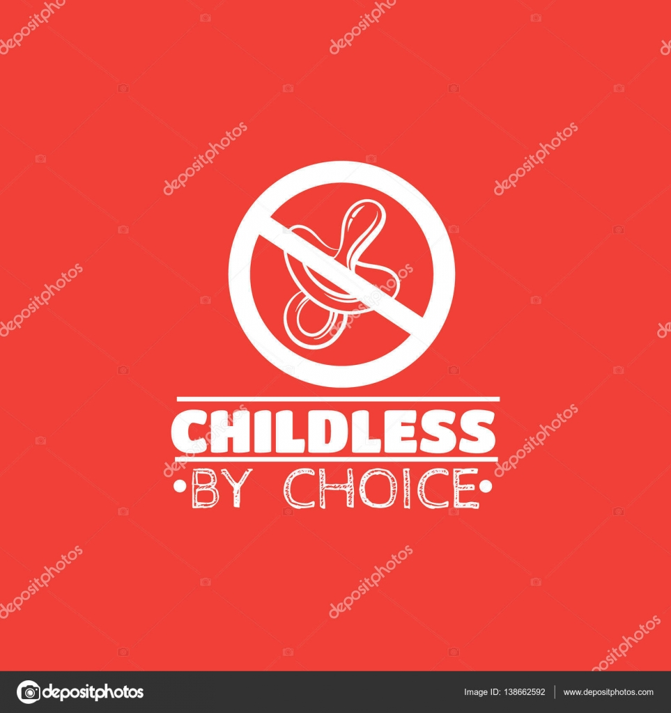 Childless by choice  Quote typographical background — Stock Vector