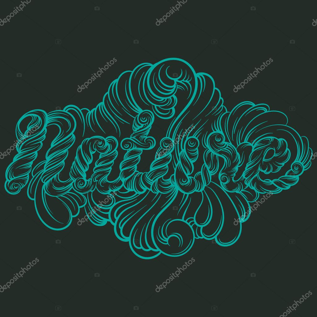 Vector quote typographical background with unique hand drawn lettering.