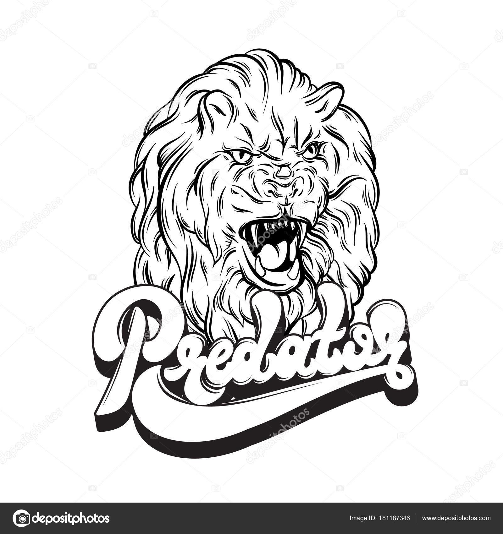 手書き文字をベクトルします 手には ライオンのイラストが描かれました