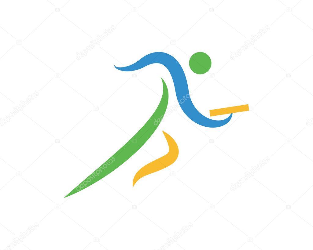 Modern Sports Logo Symbol Relay Run Stock Vector C Naulicreative