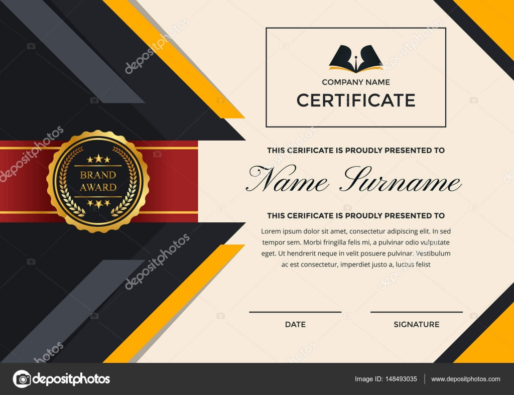 Business Certificate Of Achievement Template Image