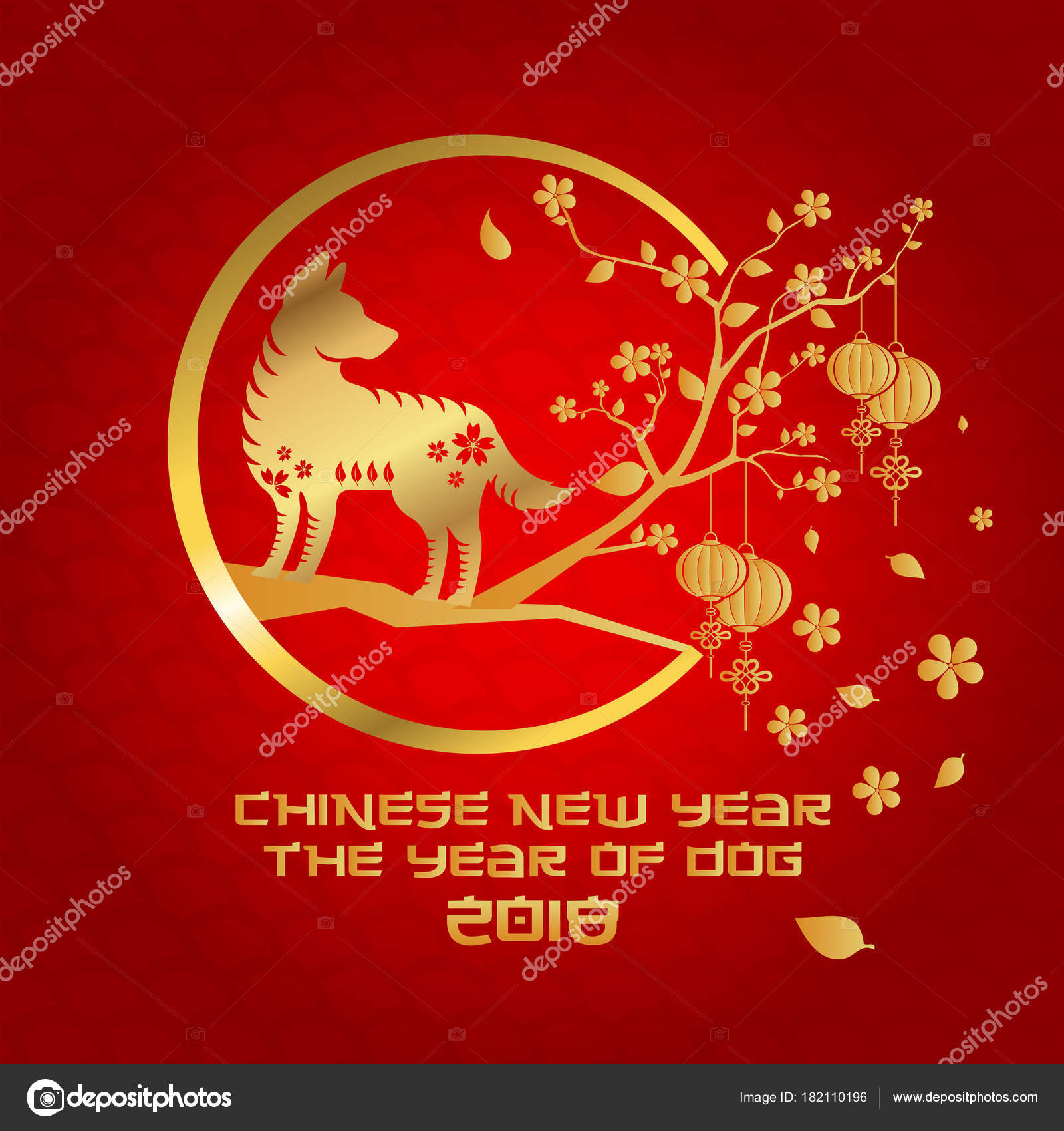 chinese new year 2018 dog year banner and card design suitable for social media banner flyer card party invitation and other chinese new year related
