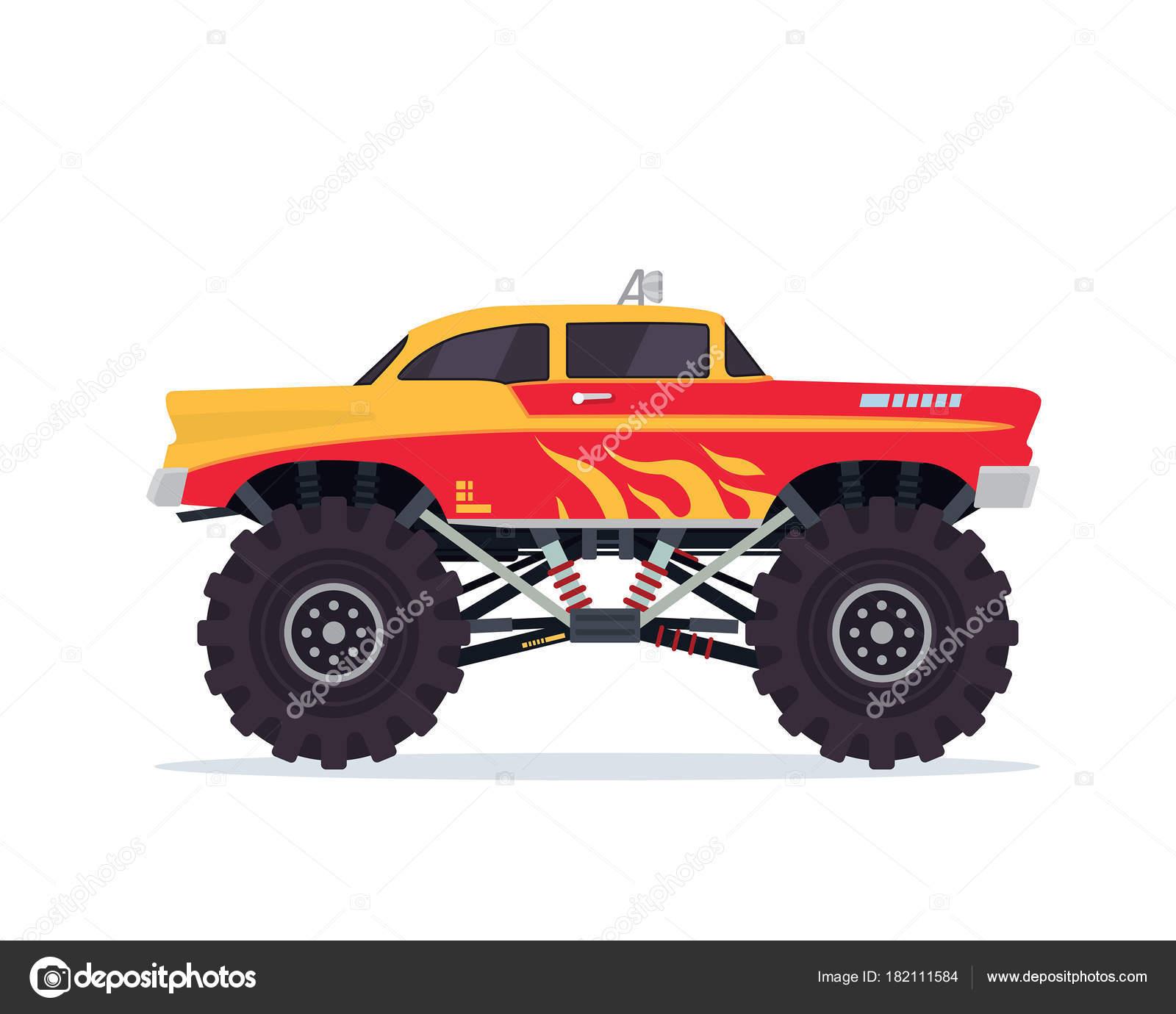 caminhão monstro desenho vetorial vetores de stock naulicreative