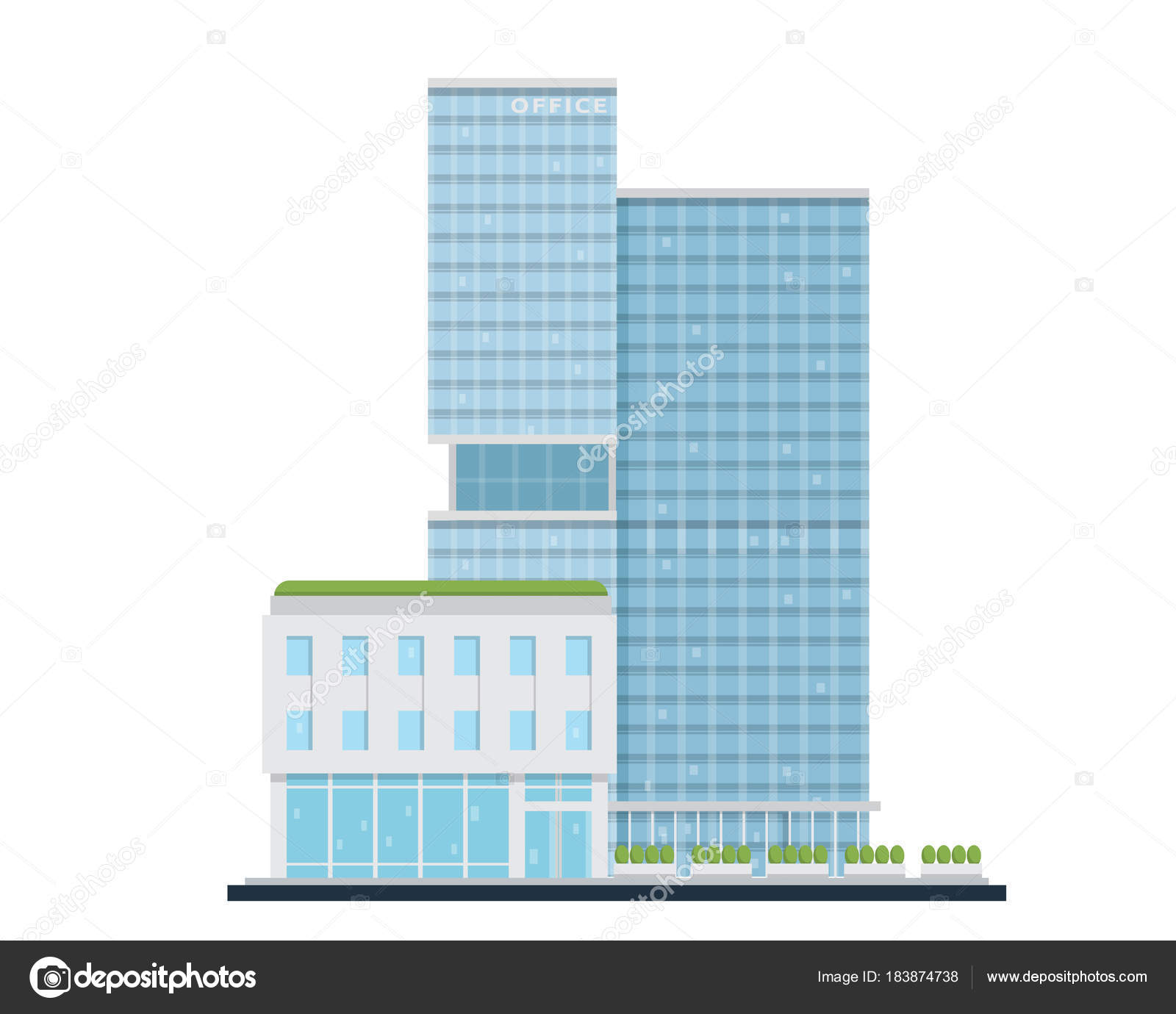 Modern Flat Commercial Office Building Suitable Diagrams Infographics Illustration Other  U2014 Stock