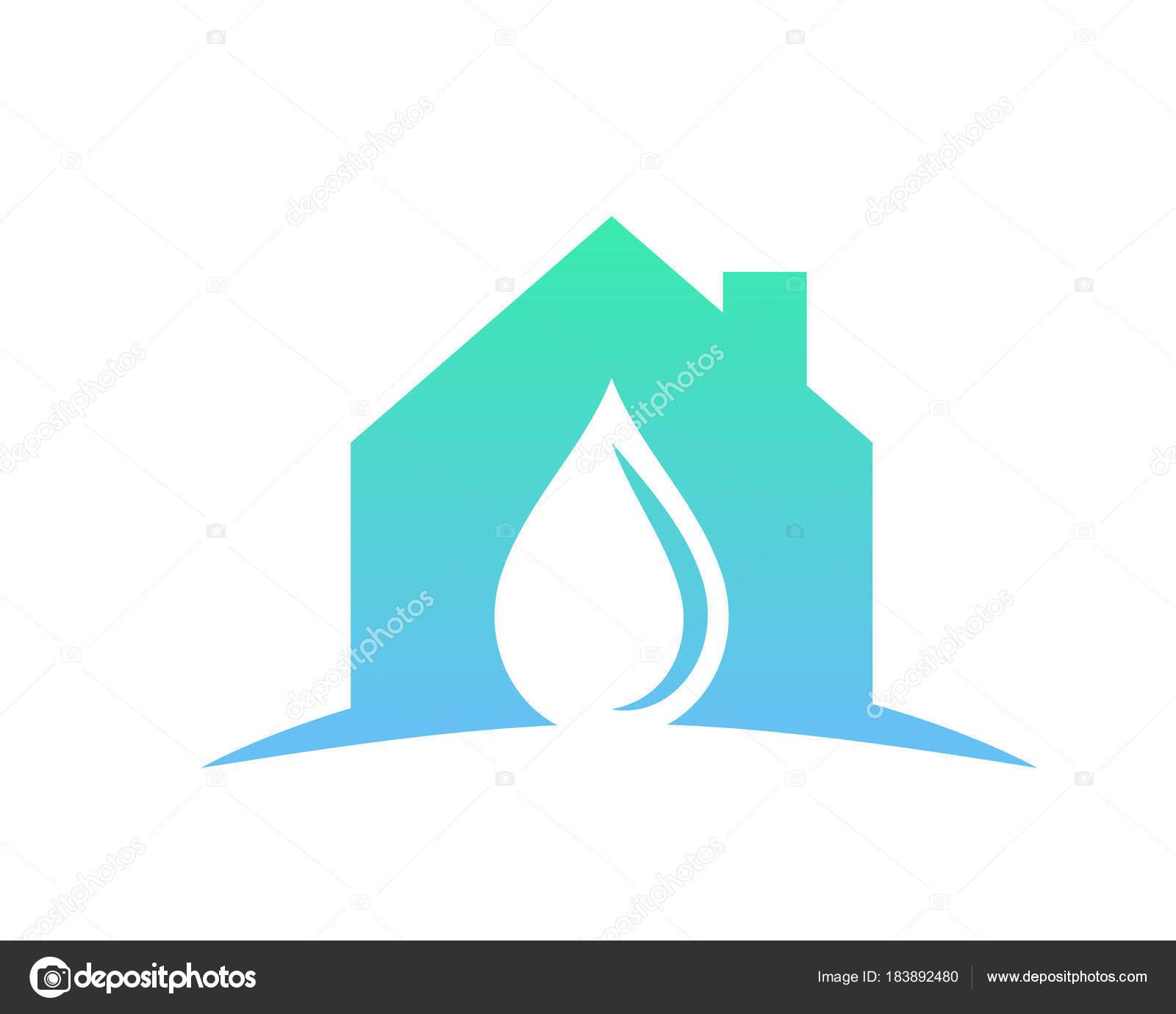Modern Plumbing Service Logo Home Water Installation U2014 Stock Vector