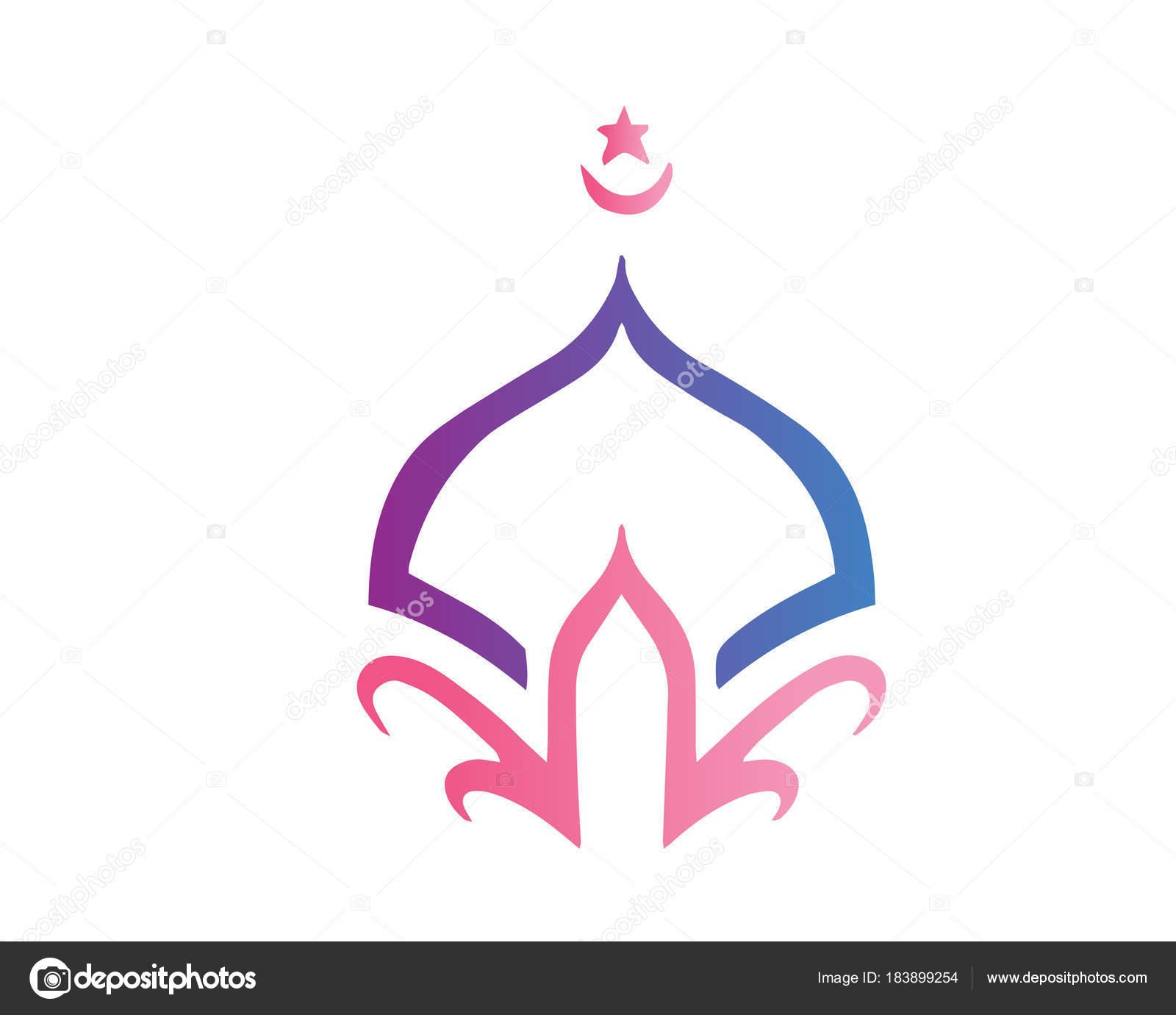 modern islamic mosque logo beautiful elegant shape mosque dome rh depositphotos com islamic logo islamic logo design