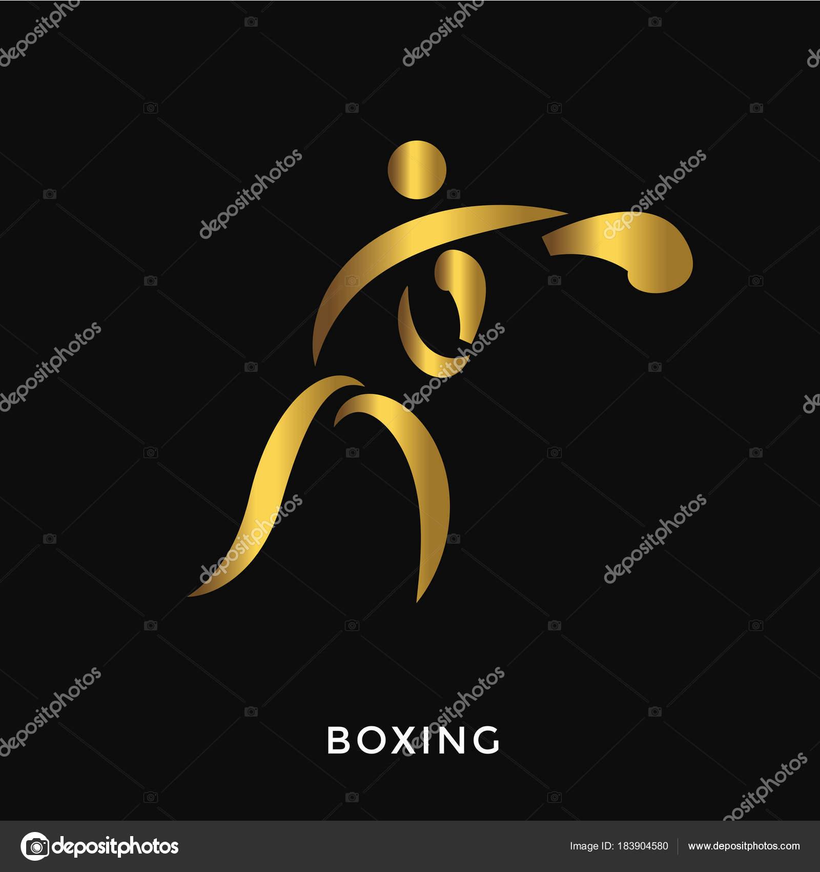 2347d66ad Verão Dourado Elegante Moderno Ostenta Logotipo Boxe — Vetores de Stock