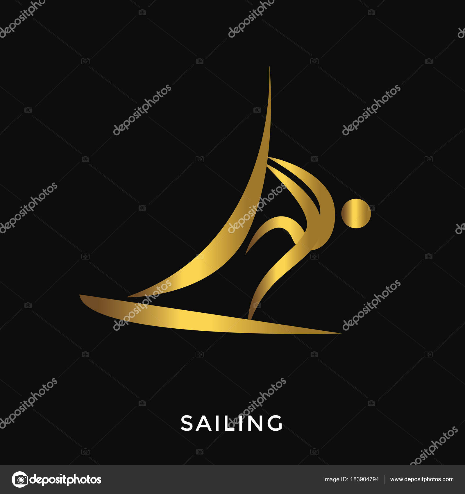 aafc98377 Verão Dourado Elegante Moderno Ostenta Logotipo Vela — Vetores de Stock