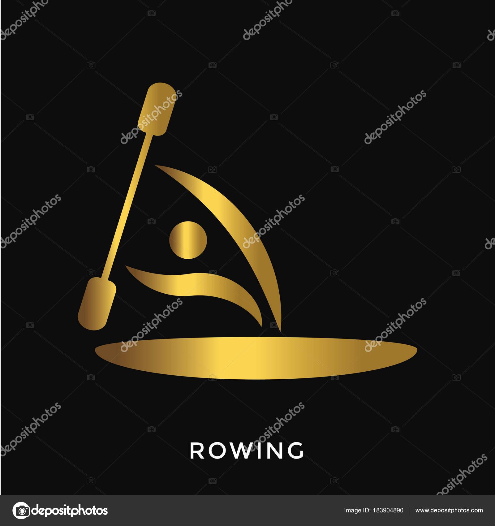 e4775155d Verão Dourado Elegante Moderno Ostenta Logotipo Remo — Vetores de Stock