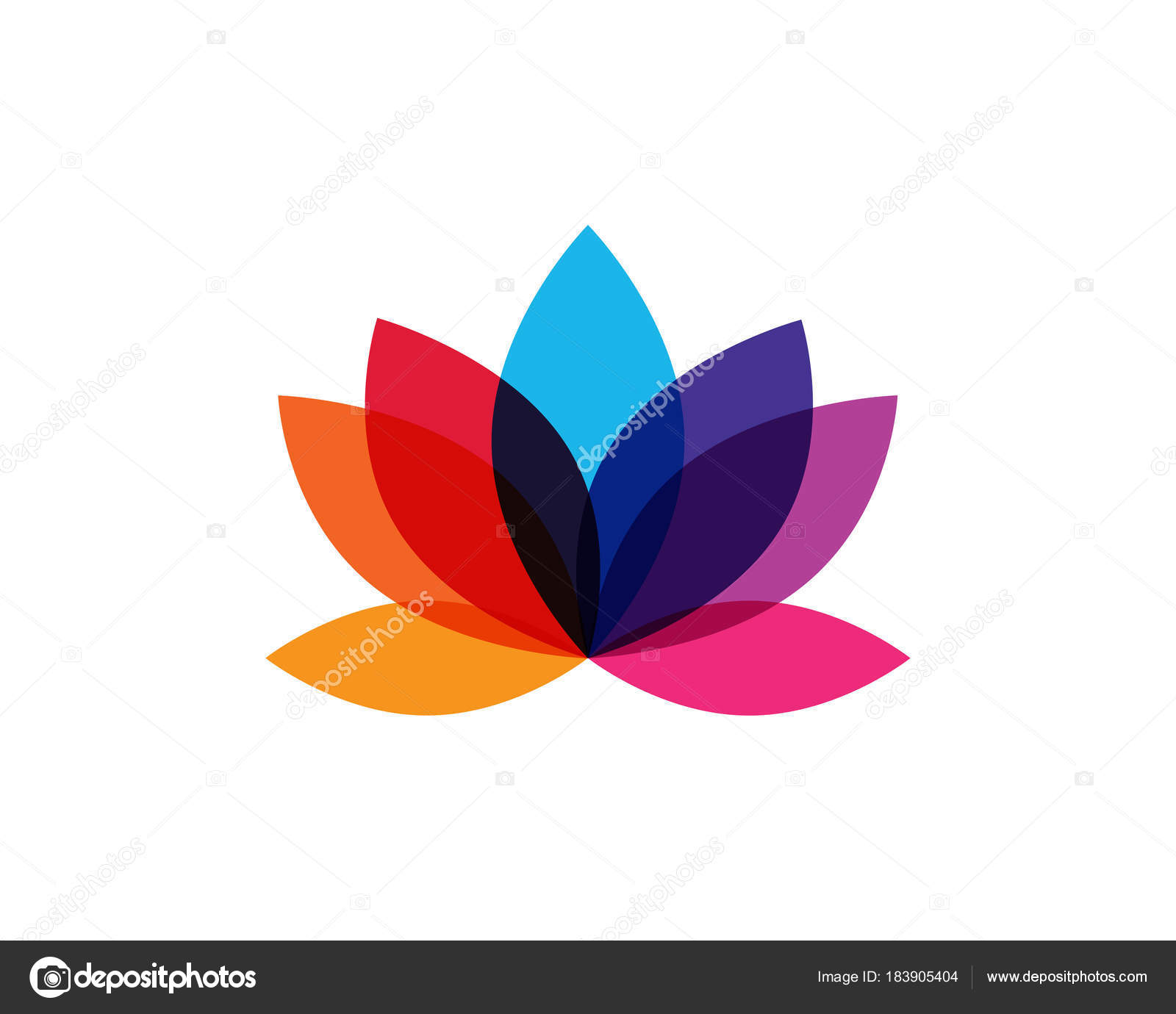 Modern colorful lotus flower logo stock vector naulicreative modern colorful lotus flower logo stock vector mightylinksfo Images