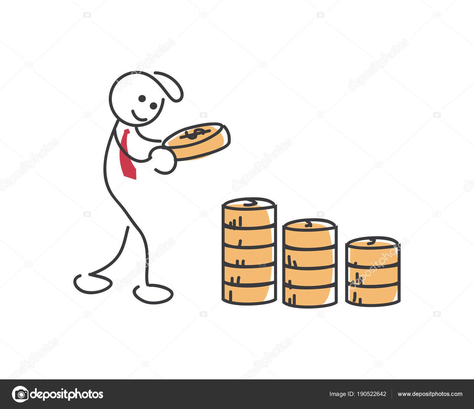 Kreative Business Strategie Tipps Stickman Illustration Konzept Nie ...