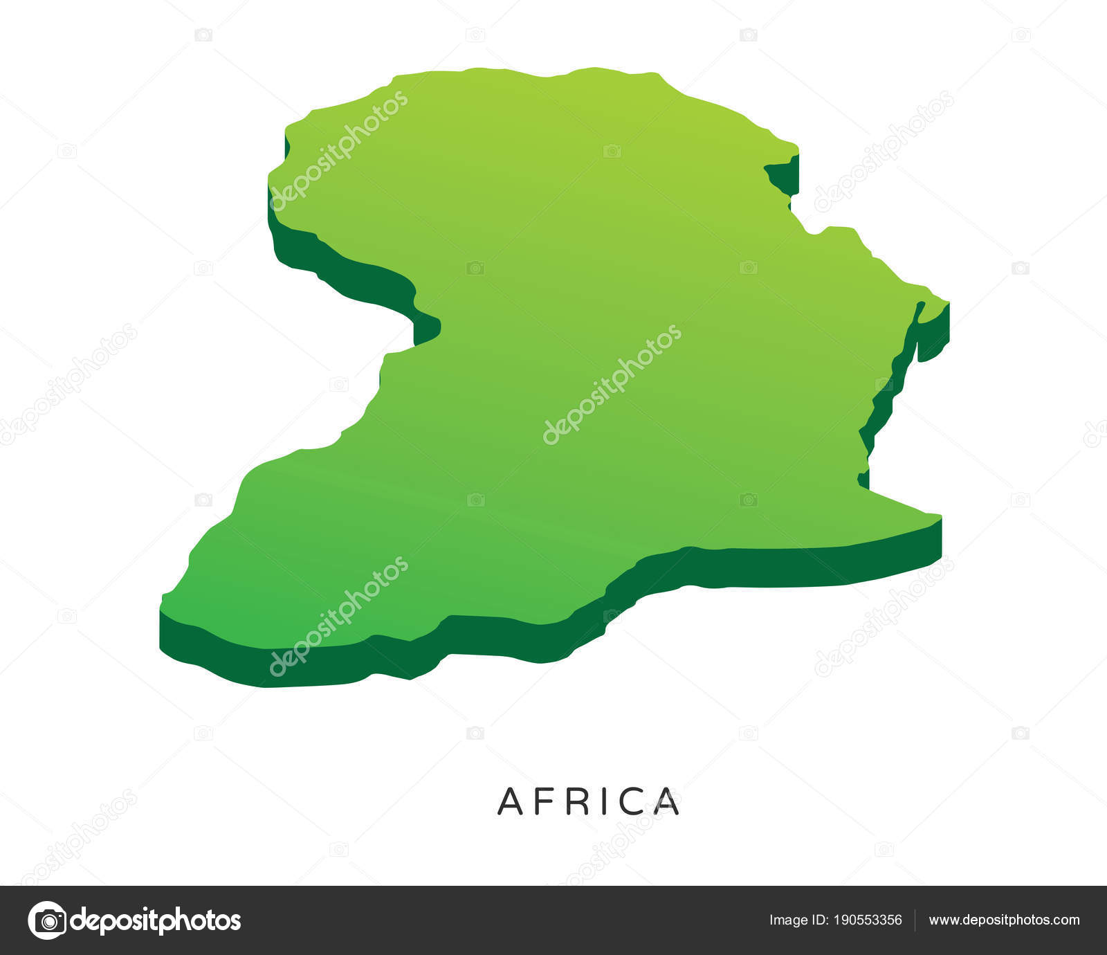 Modern Detail Isometric Map Africa — Stock Vector © naulicreative ...