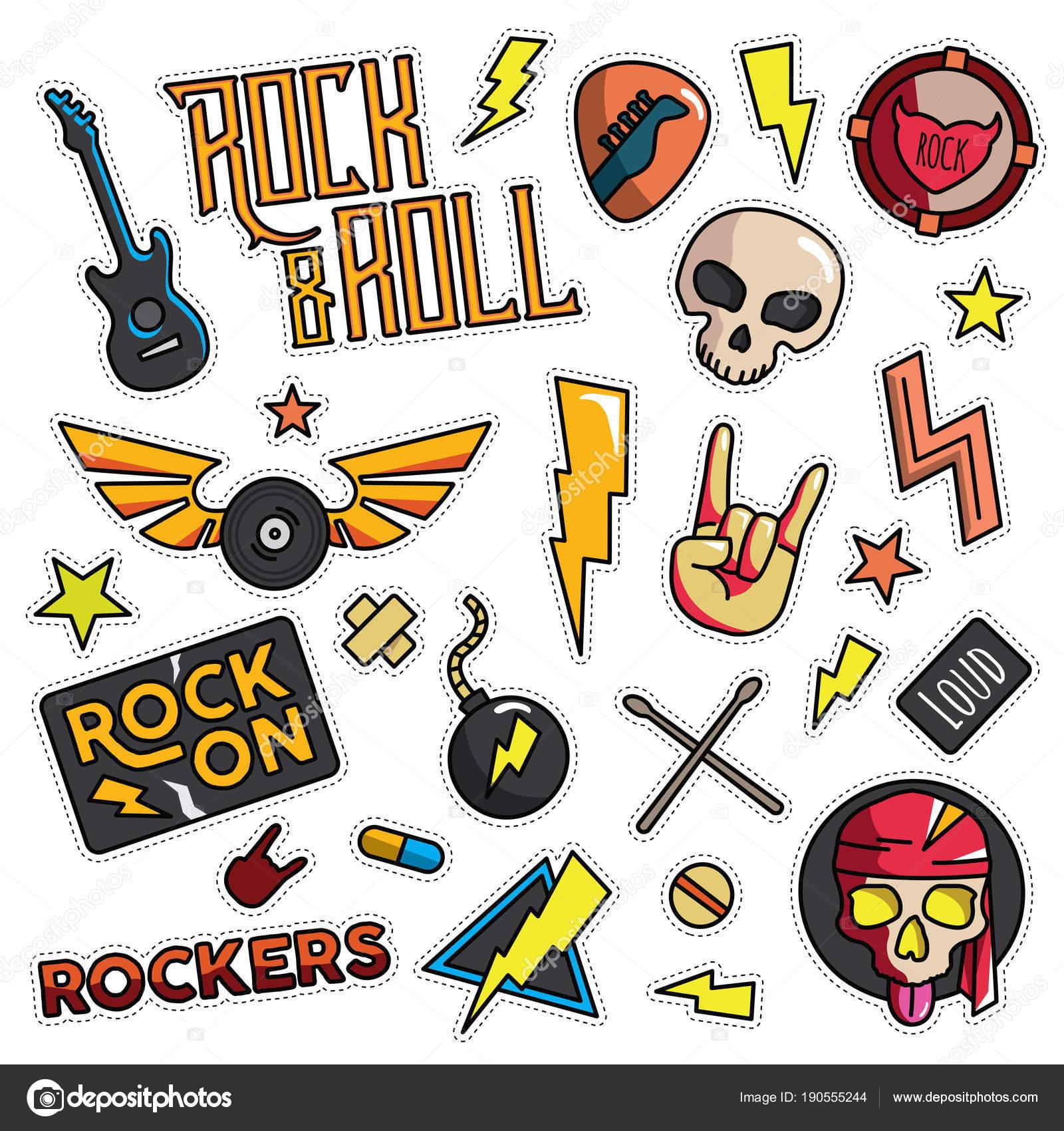 Dibujos Ilustraciones Rock And Roll Vintage 80s 90s Rock