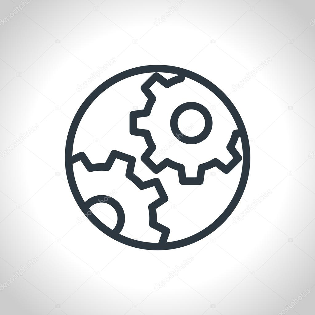 Vector Cog Settings Icon Symbol  Flat, vector  — Stock