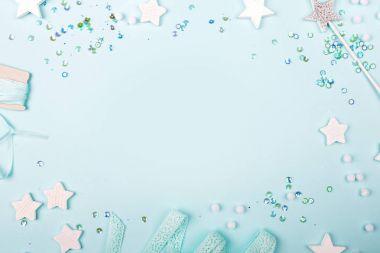 Blue Frame with stylish decoration