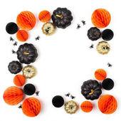 Decorative Pumpkins and Honeycomb balls