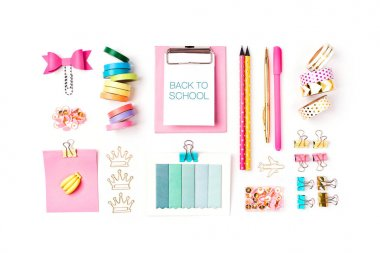 Clipboard mockup and School stationery