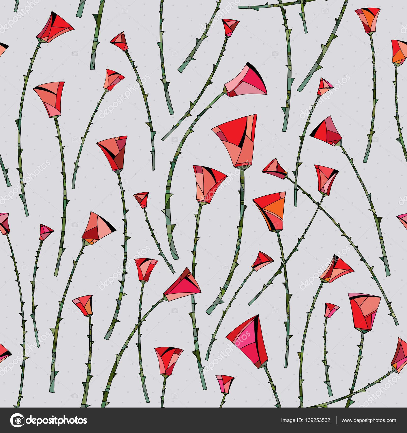 Patron De Flores Para Pintar En Tela Patrón Abstracto Rosas