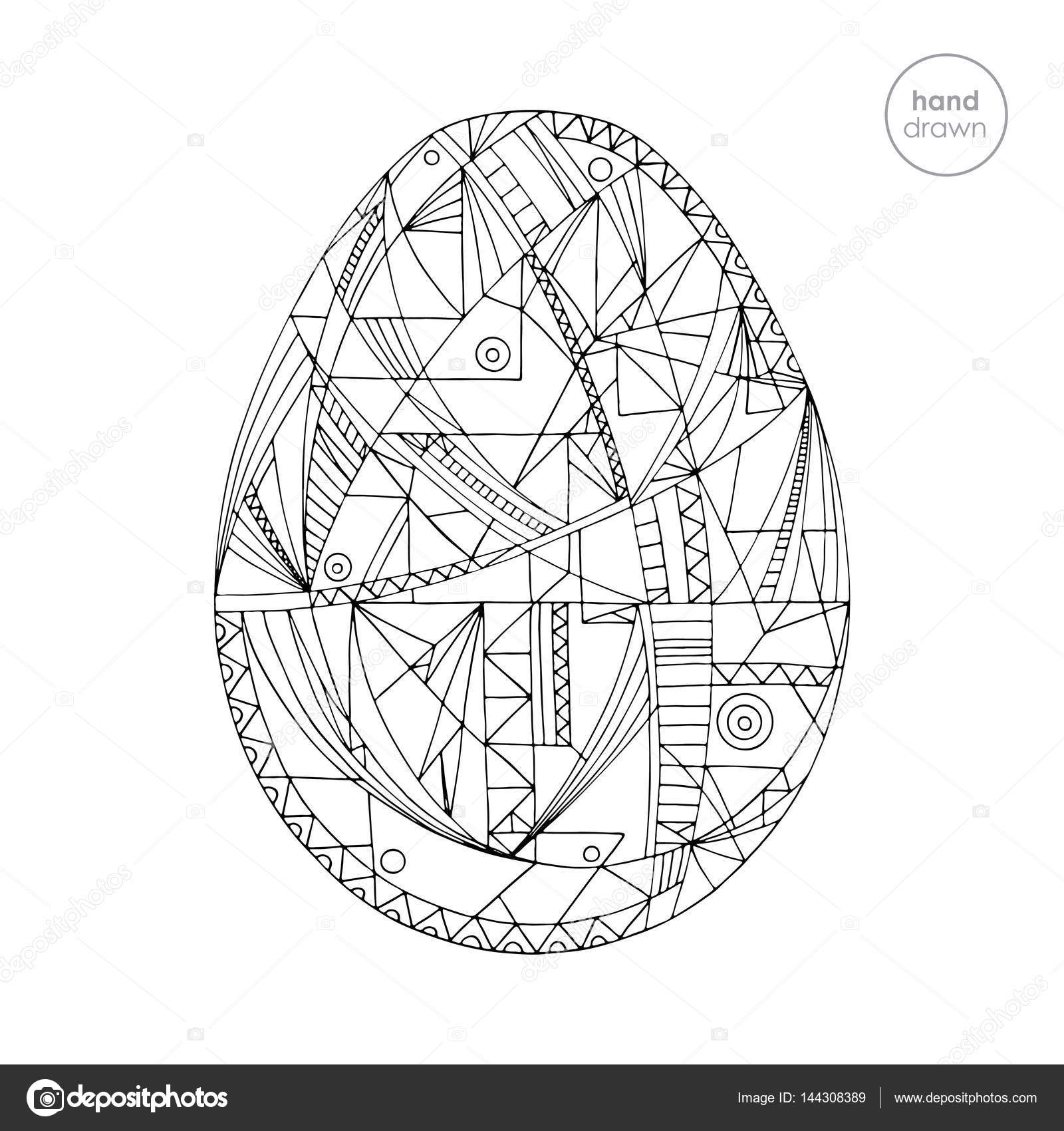 Osterei-Vektor-Illustration. Handgemalte abstrakte Urlaub Design im ...