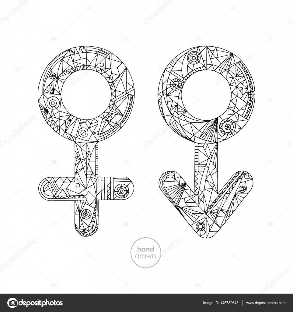 Dibujos Genero Masculino Y Femenino Para Colorear