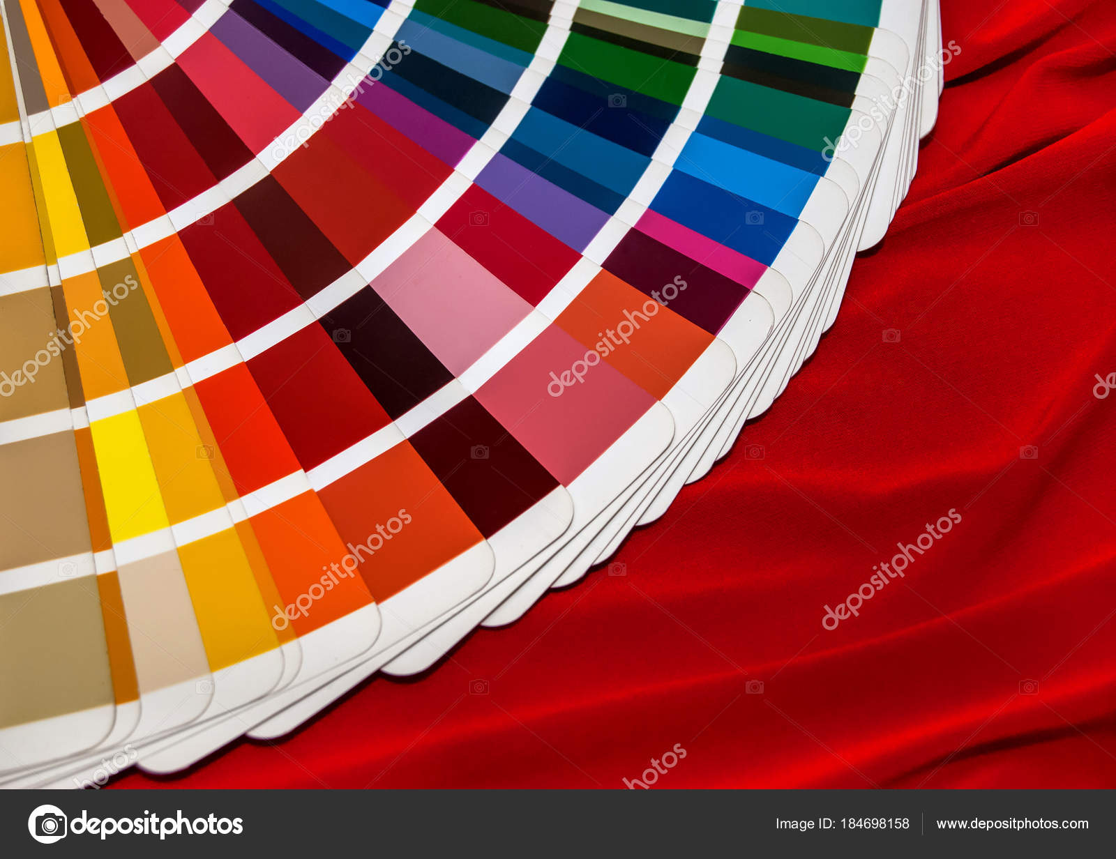 Color swatch book on the red fabric — Stock Photo © igorkol_ter ...