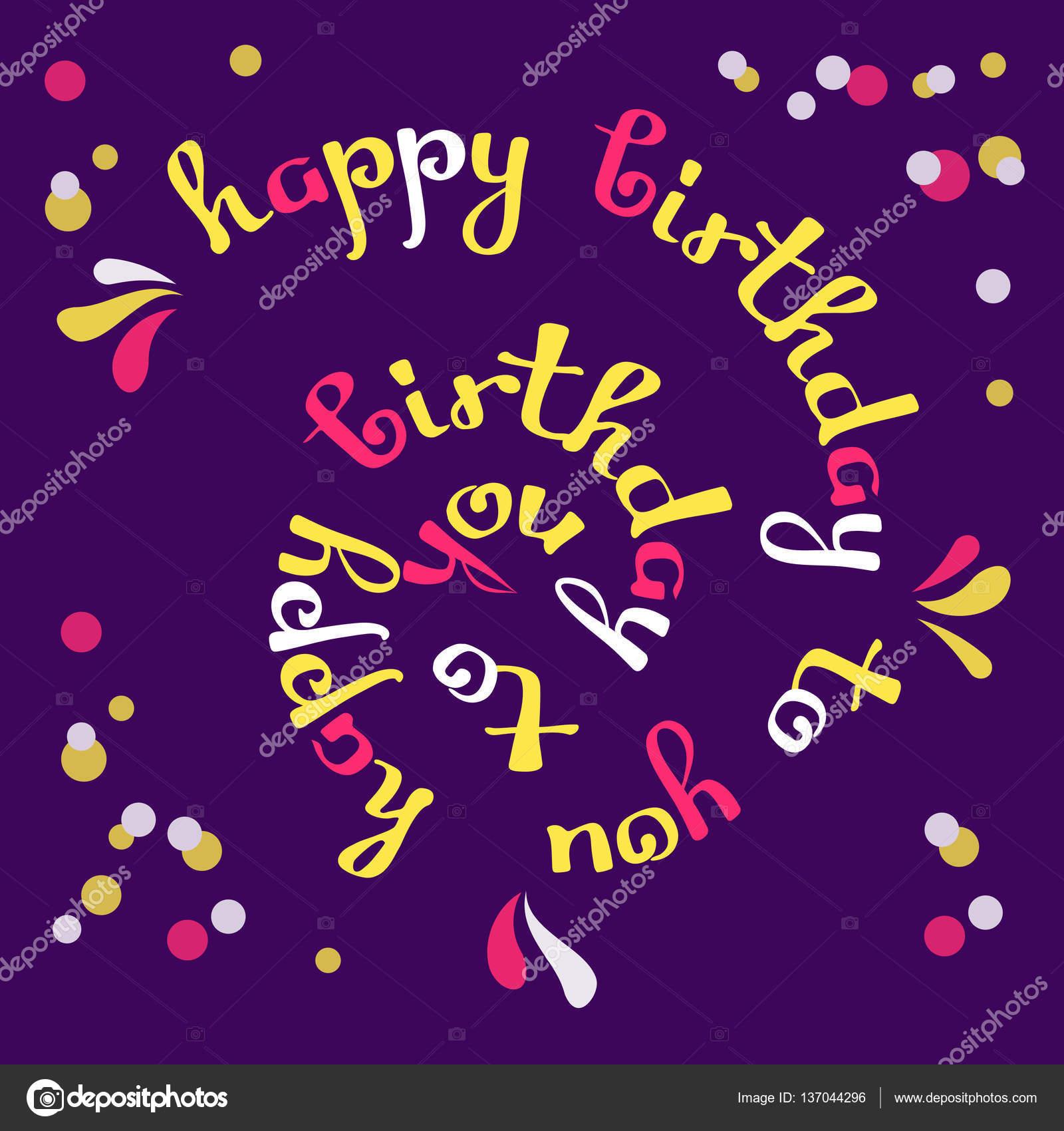 gefeliciteerd afbeelding downloaden Hartelijk gefeliciteerd met je verjaardag. wenskaart — Stockvector  gefeliciteerd afbeelding downloaden