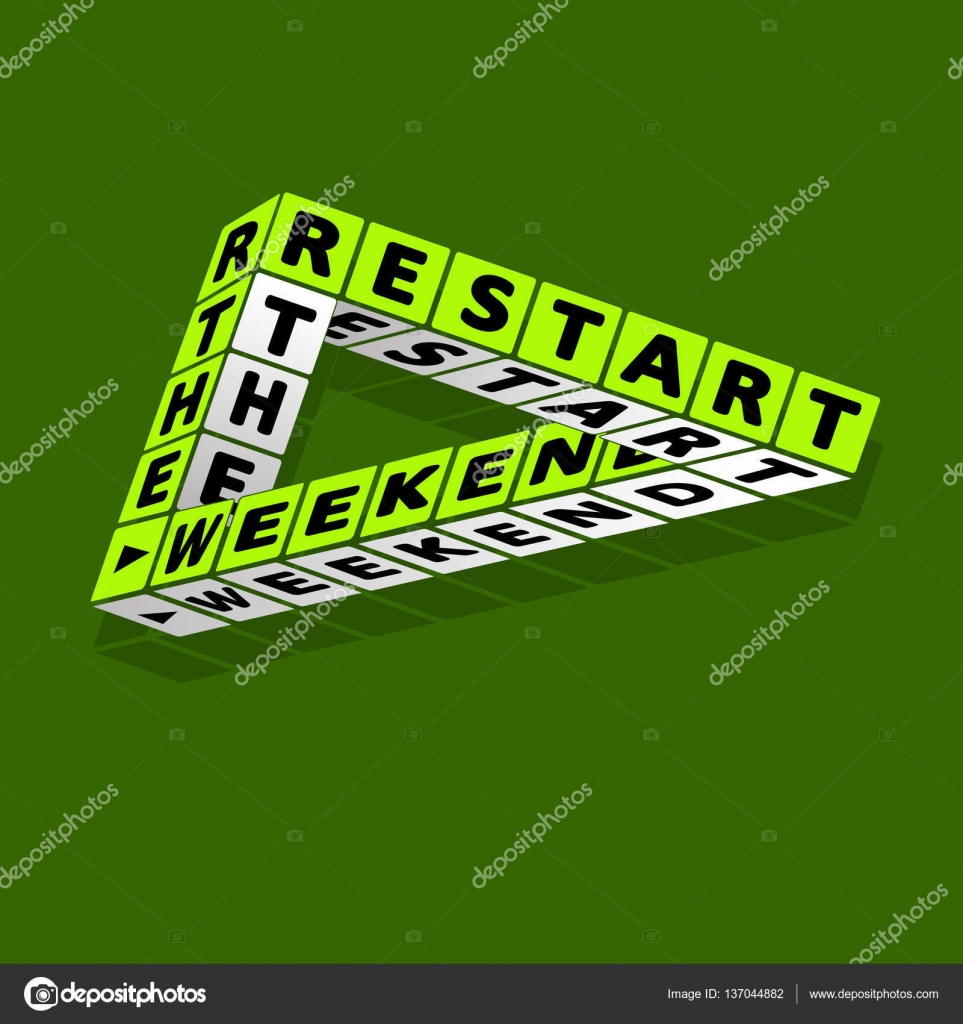 restart the weekend quote typographic background design stock