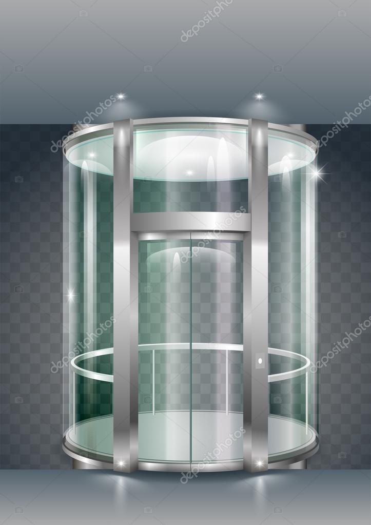 ascenseur vitr e image vectorielle denisik11 128342704. Black Bedroom Furniture Sets. Home Design Ideas