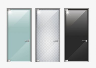 Modern doors made of glass
