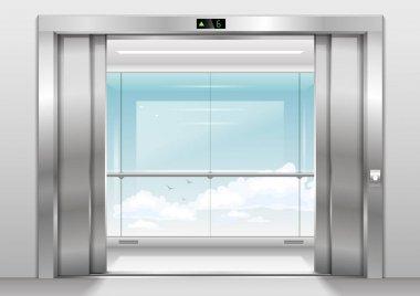 Outdoor panoramic elevator